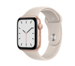 Apple Watch SE GPS 44mm Gold Aluminium Case Starlight Sport Band Regular Apple