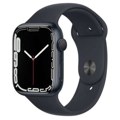 Apple Watch Series 7 GPS, 45mm Midnight Aluminium Case with Midnight Sport Band - Regular Apple