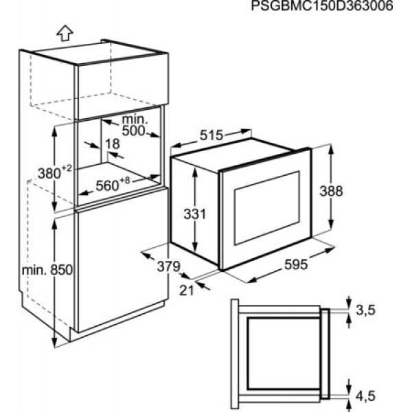 AEG Microgolfoven inbouw MSB2547D-M