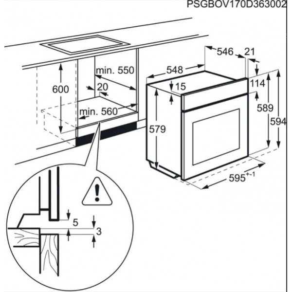 AEG Oven BPE742320M