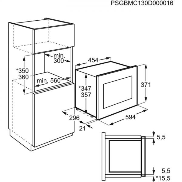 AEG Microgolfoven inbouw MBB1756DEM