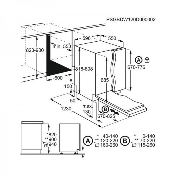 AEG Vaatwasser inbouw FSE52707P