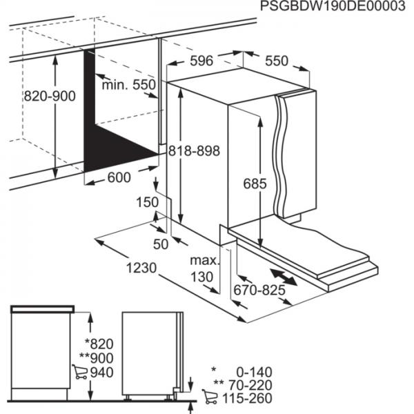 AEG Vaatwasser inbouw FSE83807P