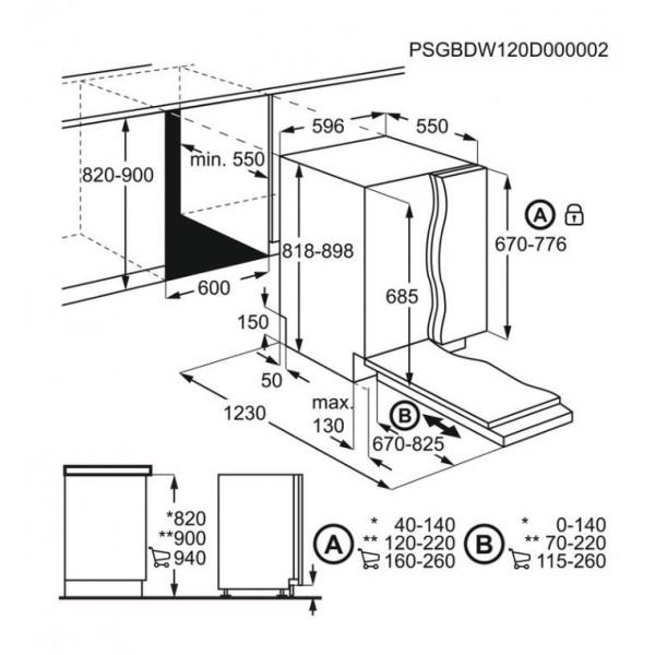AEG Vaatwasser inbouw FSE63717P