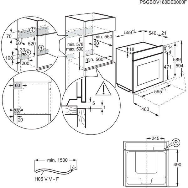 AEG Oven BPE748380M