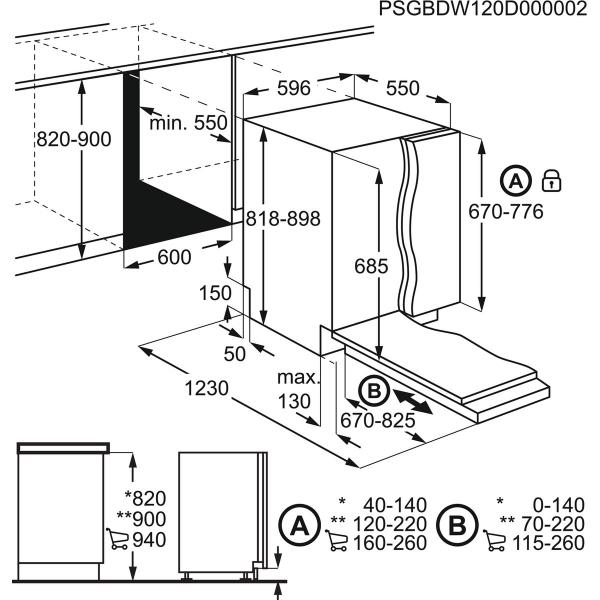 AEG Vaatwasser inbouw FSE83827P