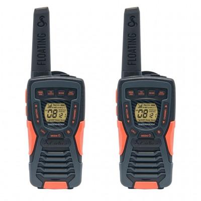 AM1035 FLT walkie talkie Adventure 2-pack drijvend zwart  Cobra