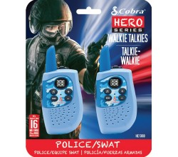 HM230B walkie talkie Hero Police/Swat 2-pack blauw Cobra