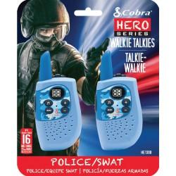 HM230B walkie talkie Hero Police/Swat 2-pack blauw  Cobra