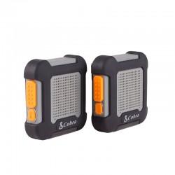 AU220 BG draagbare walkie talkie handsfree 3km range zwart