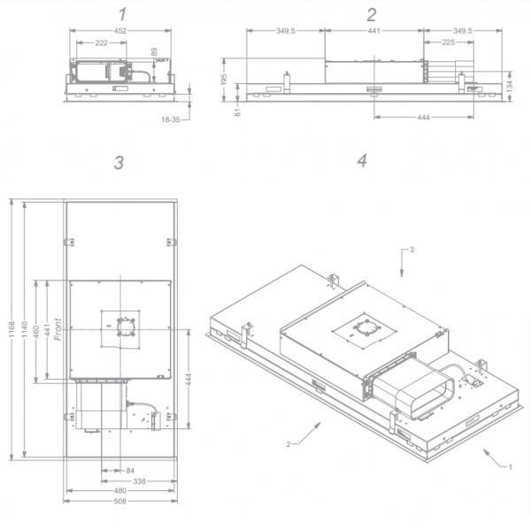 6921 Pureline Pro Compact 120 cm Wit  Novy