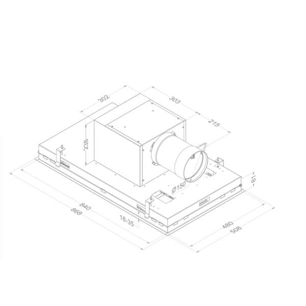 6932 Pureline Pro 90 cm Zwart Novy
