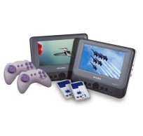 DVP7748DUO+GC portable double 7''LCD 2x DVD + 2x250 games pad incl car mounting kit