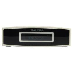 CR624DAB clockradio white/black dab/dab+/fm LCD display line out double alarm snooze  Salora