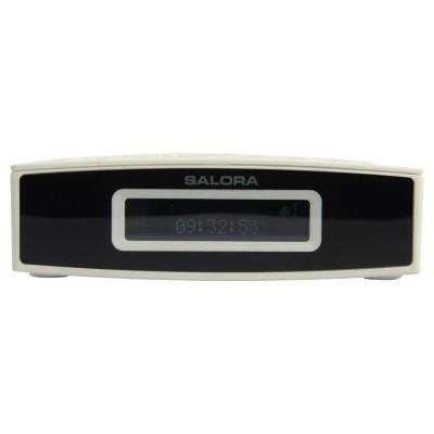 CR624DAB clockradio white/black dab/dab+/fm LCD display line out double al Salora