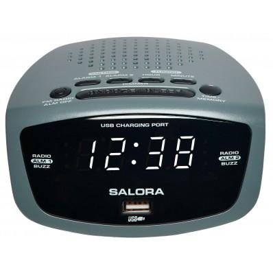 CR627USB klokradio USB/FM wit