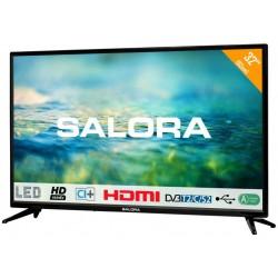 "32""/82cm LED TV HD CI+ + usb mediaplayerzwart  Salora"