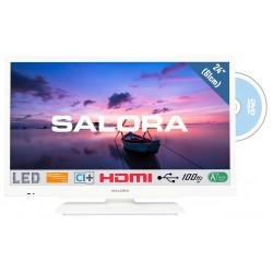 """24HDW6515 WITTE 60.96 cm (24"""") (61CM) tv met ingebouwde dvd speler  Salora"""