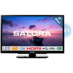 "32""/82cm LED TV HD CI+ DVD zwart  Salora"