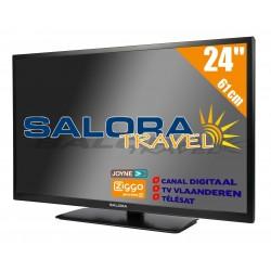"24LED9109CTS2 24""/61 cm travel TV 12/230 Volt zwart  Salora"