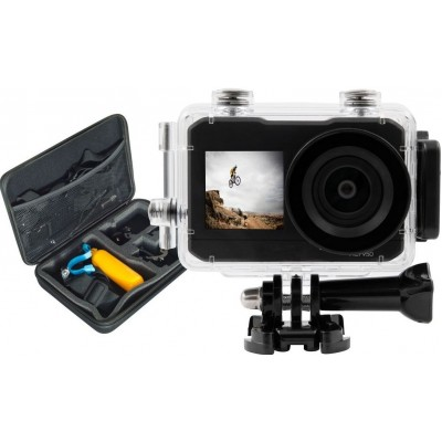 Action Cam UHD Dubbel Scherm + Action Cam Pack  Salora