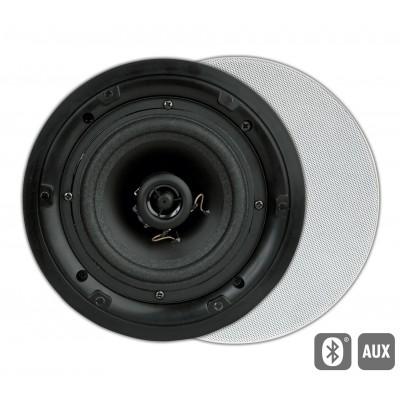 FL501BT Flat HP encastr. actif AUX/BT ronde blanc (2pc) Art Sound