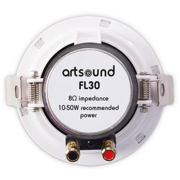 FL30 flat inbouw LS rond 20W wit (2pc) Art Sound