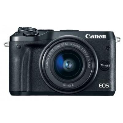 EOS M6 Zwart + 15-45mm + 55-200mm Canon