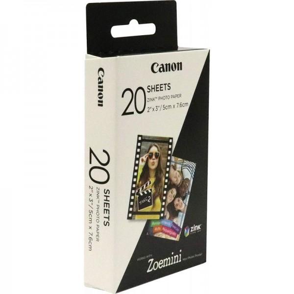 20 vel ZINK fotopapier (5x7,6cm)