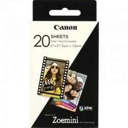 20 vel ZINK fotopapier (5x7,6cm) Canon