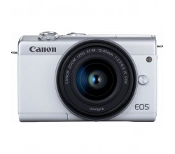 EOS M200 + EF-M 15-45mm Wit/Zilver Canon