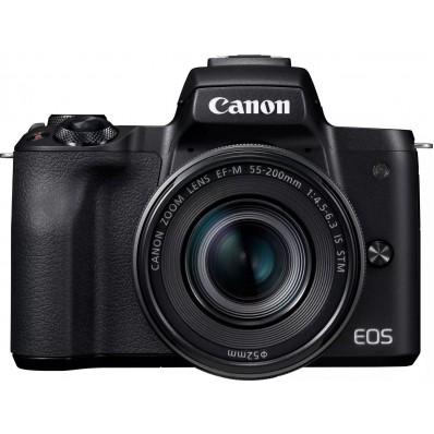 EOS M50 Black M15-45 S + M55-200