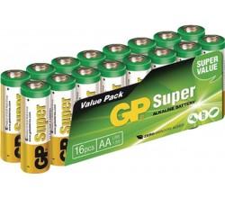Super Alkaline AA Mignon penlite valuepack 16 GP Batteries