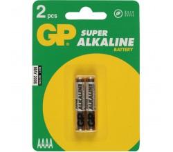 Super Alkaline AAAA, blister 2 GP Batteries
