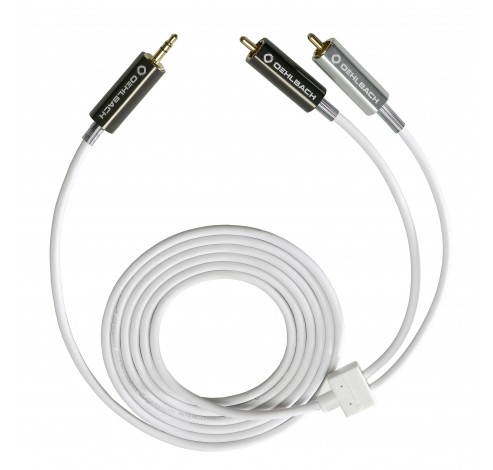 90561 MP3! 35mm jack/2xrca kabel m/m 1m wit  Oehlbach
