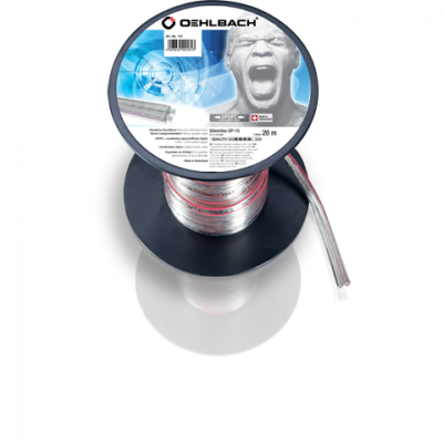 182 silver line HP câble 2x15mm² 30m Oehlbach