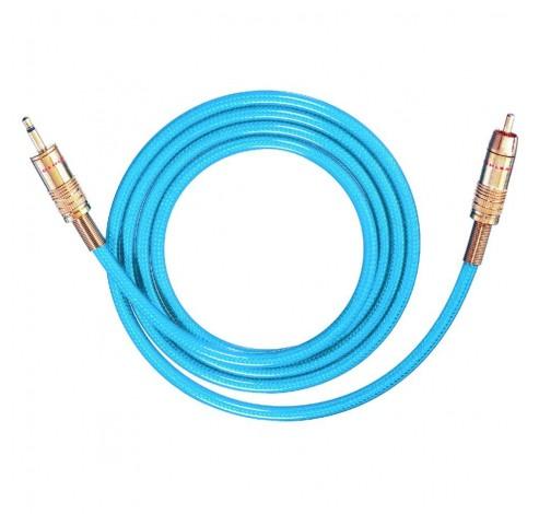 9055 Audiokabel rca/jack m/m 350mm 150m blauw  Oehlbach