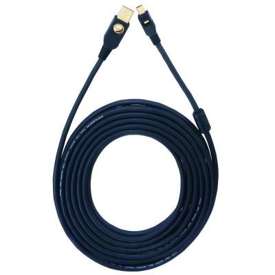 9124 USB kabel A/Mini 750m zwart Oehlbach