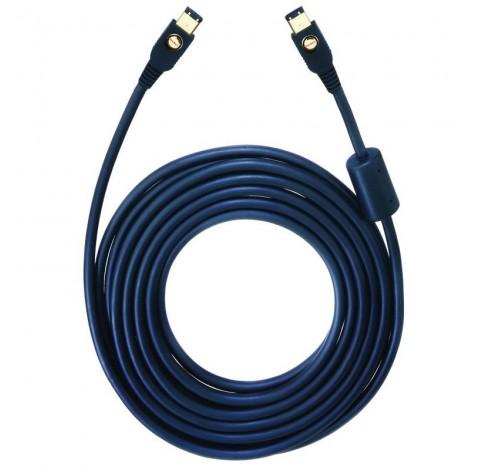 9165 Firewire kabel 6/6 10m zwart  Oehlbach