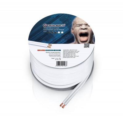 196 câble HP 2x25mm² 20m blanc Oehlbach