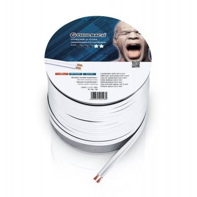 198  LS kabel 2x25mm² 30m wit Oehlbach