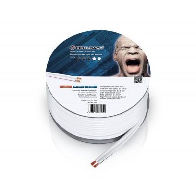 195 câble HP 2x15mm² 20m blanc Oehlbach