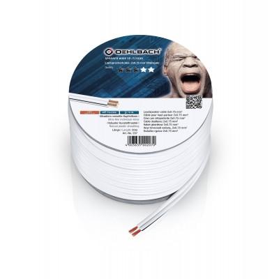 207 LS kabel 2x075mm² 20m wit Oehlbach
