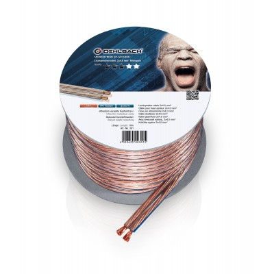 301 câble HP 2x4mm² 10m transparent Oehlbach