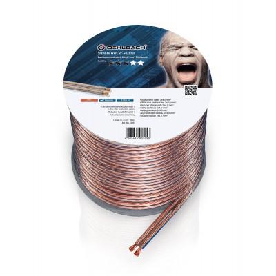 305 câble HP 2x4mm² 30m transparent Oehlbach