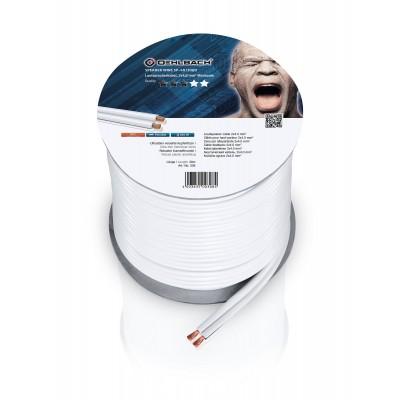 308 câble HP 2x4mm² 30m blanc Oehlbach