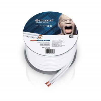 306 câble HP 2x4mm² 10m blanc Oehlbach