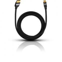 9250 Impact Plus M1 Displayport/Minidispl. 1m zwart  Oehlbach
