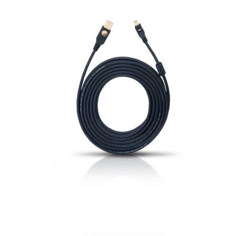 9122 USB Cable A/Mini 3m zwart  Oehlbach