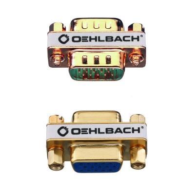 9061 VGA adapter m/m goud